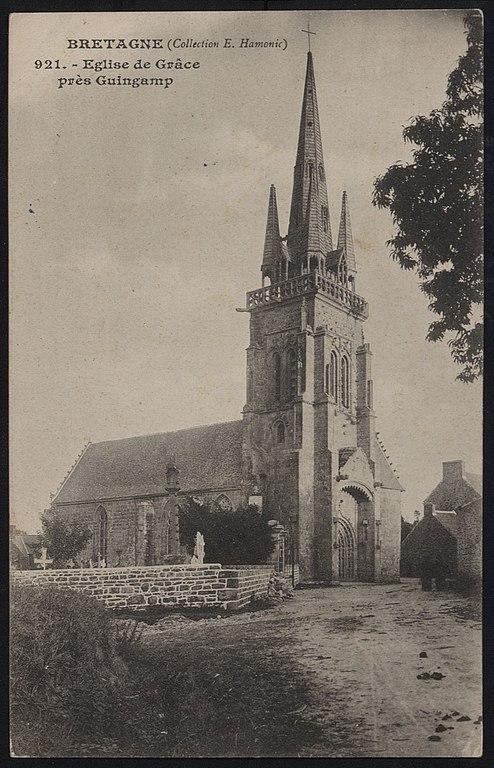 Carte postale ancienne Grâces - Eglise à Grâces