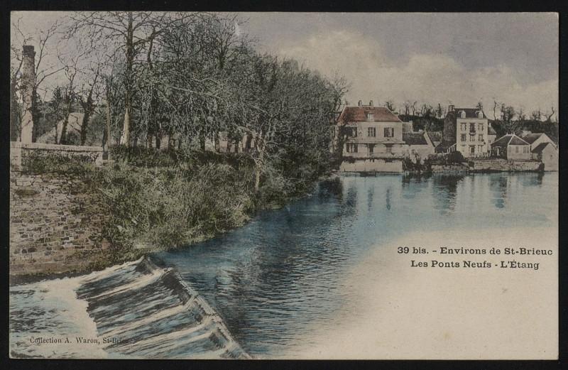 Carte postale ancienne Hillion - Les Ponts-Neufs à Hillion