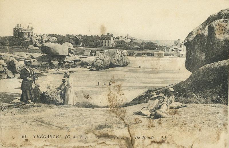 Carte postale ancienne Trégastel - Pors de l'Ile Ronde à Trégastel
