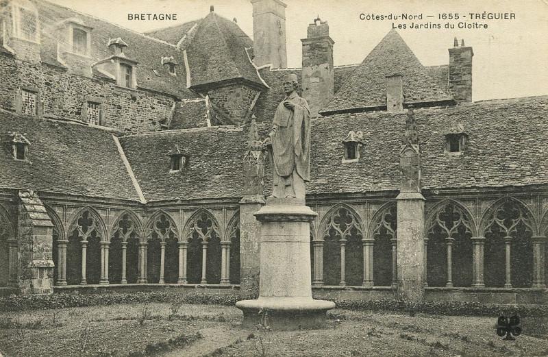 Carte postale ancienne Tréguier - Jardins du Cloître à Tréguier