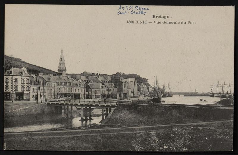 Carte postale ancienne Binic - Vue générale du Port à Binic-Étables-sur-Mer