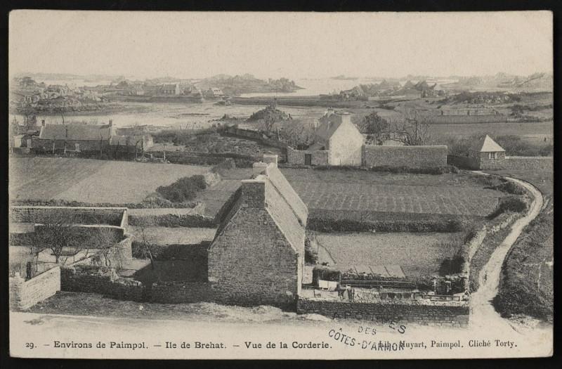 Carte postale ancienne Ile-de-Bréhat - Vue de la Corderie à Île-de-Bréhat