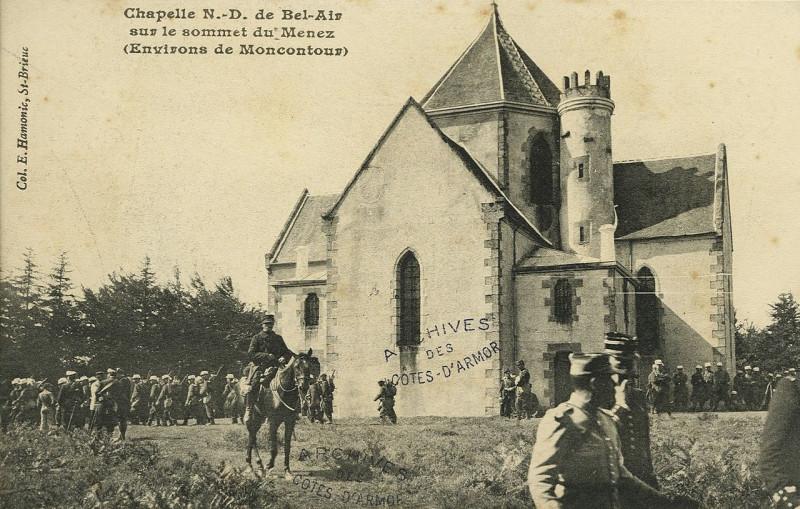 Carte postale ancienne Trébry - Chapelle Notre-Dame de Bel Air sur le sommet du Ménez - AD22 - 16FI6180 à Trébry