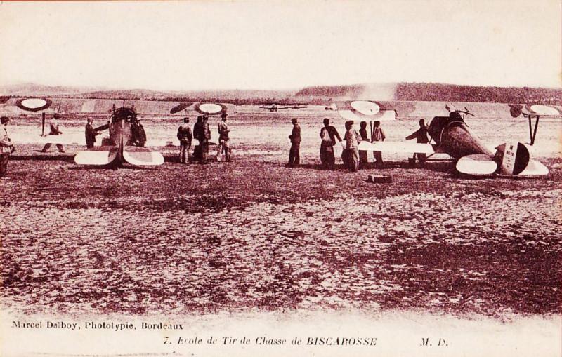 Carte postale ancienne Biscarrosse (Landes) - Ecole de Tir de Chasse 2