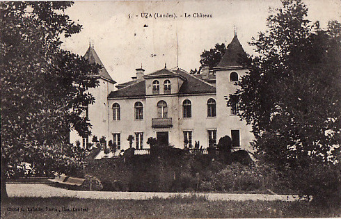 Carte postale ancienne Uza (Landes) - château d'Uza 2 à