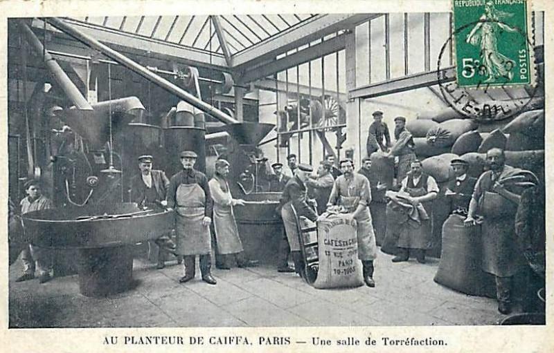 Carte postale ancienne Caïffa Torréfaction 1905