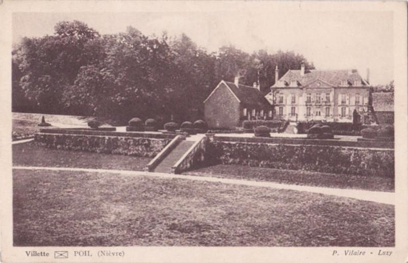 Carte postale ancienne Poil, Nièvre - Château de Villette - carte postale 02bis