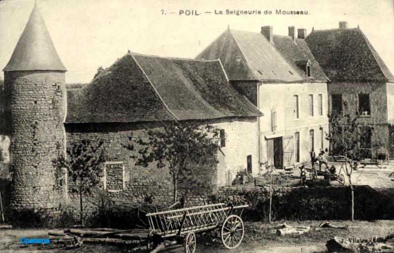 Carte postale ancienne Poil, Nièvre - Château du Mousseau - carte postale 02 à