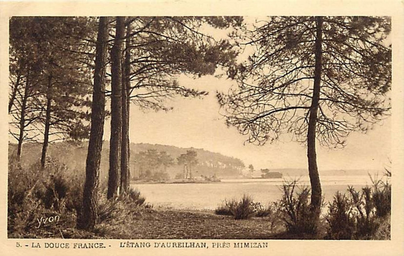 Carte postale ancienne Aureilhan (Landes) - Etang 3