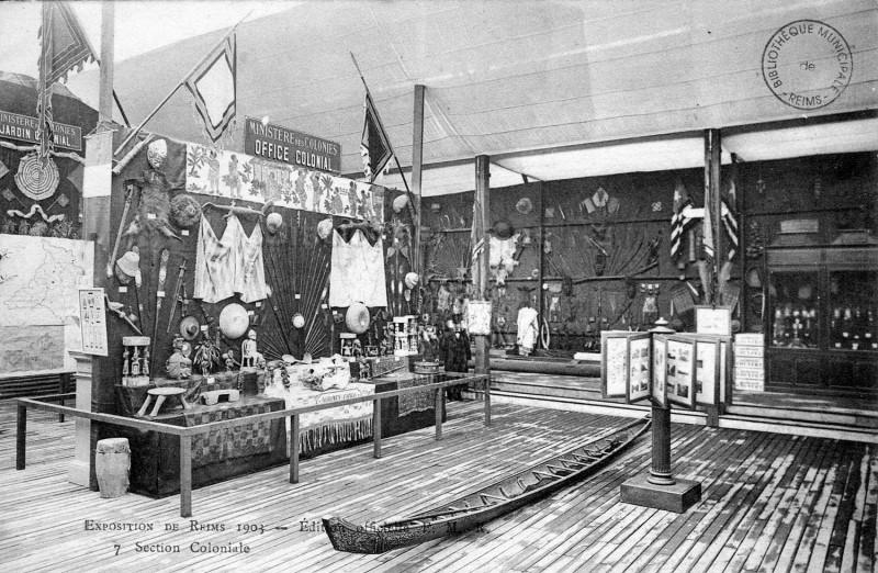 Carte postale ancienne Exposition 1903 Reims section coloniale 4 à