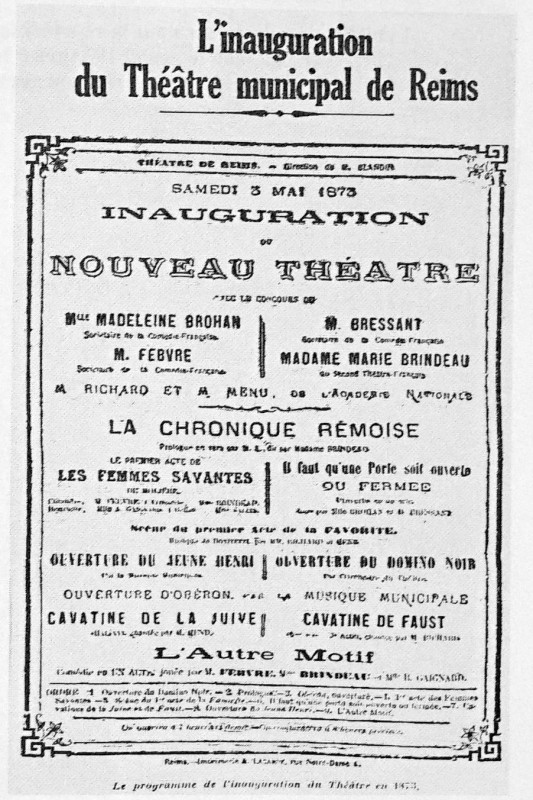 Carte postale ancienne Inauguration théatre 3 mai 1873 1100319 à