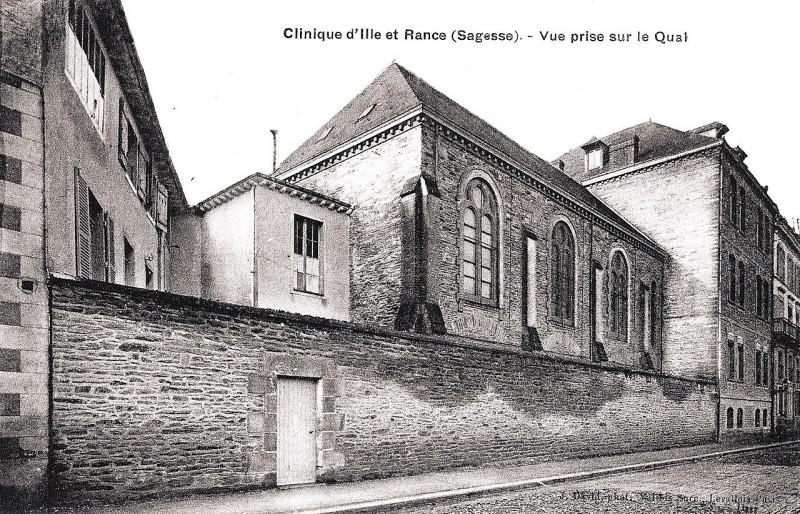 Carte postale ancienne Rennes, Clinique d'Ille & Rance (David & Vallois) à