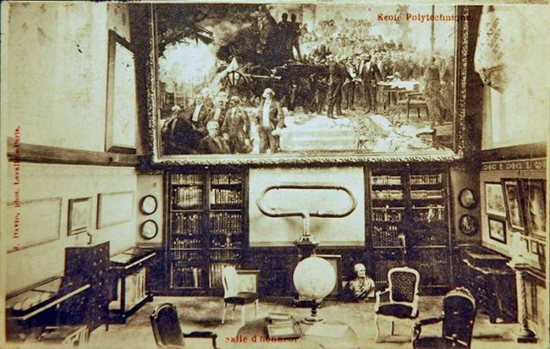 Carte postale ancienne Paris, Ecole polytechnique, Salle d'Honneur (J David, 1904) à