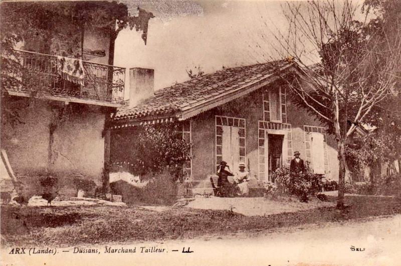 Carte postale ancienne Arx (Landes) - Dussans, marchand tailleur à