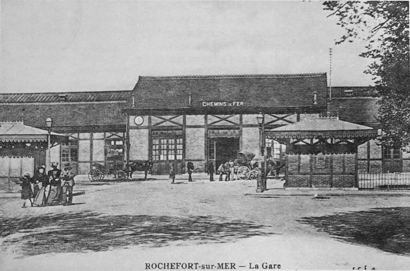 Carte postale ancienne RoChefort sur mer gare 1004043 à