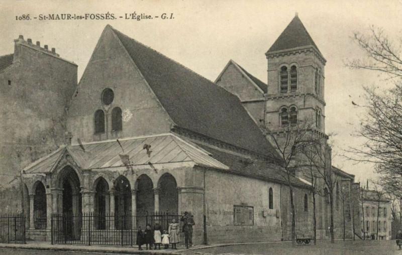 Carte postale ancienne Saint-Maur-les-Fossés.Eglise