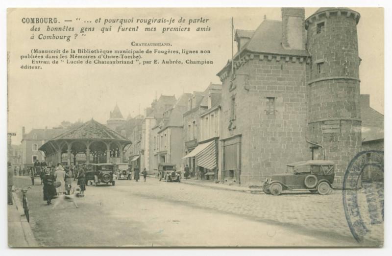 Carte postale ancienne Combourg.
