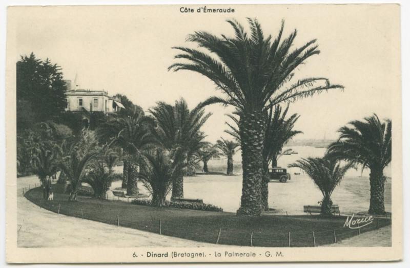 Carte postale ancienne 6. - Dinard (Bretagne). - La Palmeraie - G. M. à
