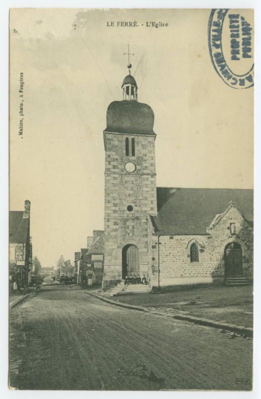 Carte postale ancienne Le Ferre - L'Eglise. à