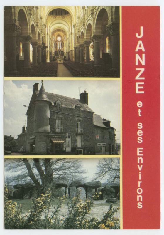 Carte postale ancienne Janze et ses Environs. à