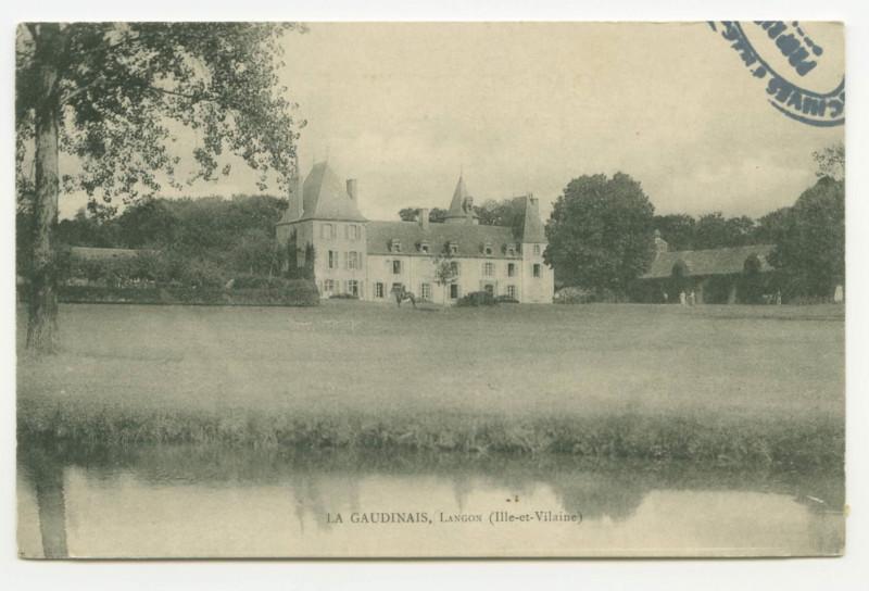 Carte postale ancienne La GAUDINAIS, Langon (Ille-et-Vilaine).
