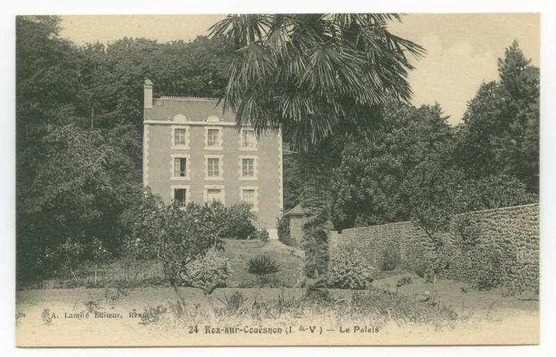 Carte postale ancienne 24 Roz-sur-Couësnon (I.-et-V.) - Le Palais à