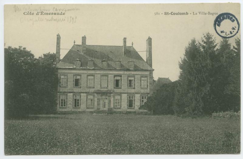 Carte postale ancienne 581 - Saint-Coulomb. - La Ville Bague- Côte d'Emeraude