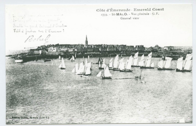Carte postale ancienne 2733 - Saint-Malo.- Vue Generale - G.F.
