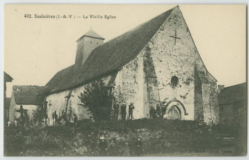 Carte postale ancienne 492. - Saulnieres (I.-&-V.) - La Vieille Eglise