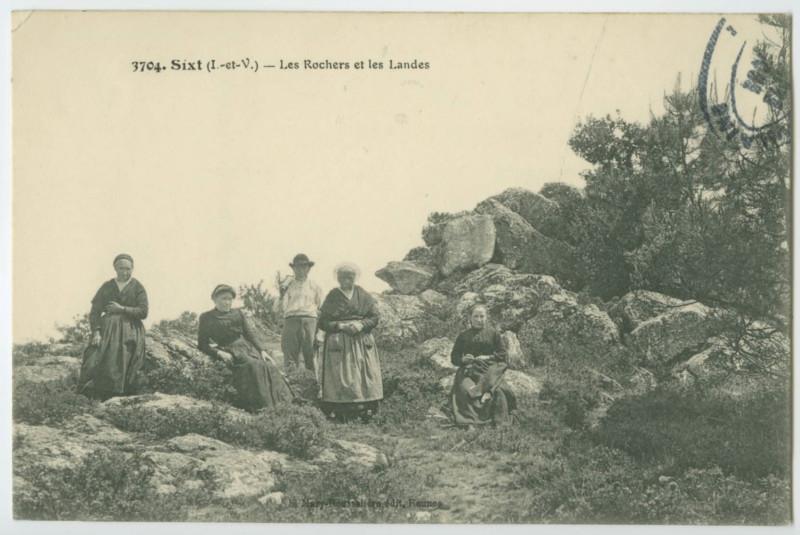 Carte postale ancienne 3704. - Sixt (I-et-V). -Les Rochers et les Landes.
