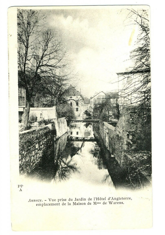Carte postale ancienne Haute-Savoie Annecy Vue prise du Jardin de l'Hôtel d'Angleterre à Annecy
