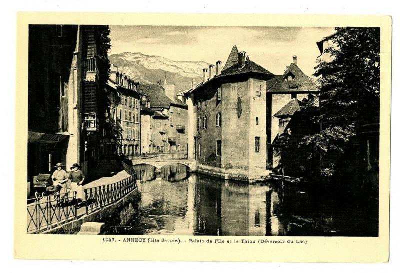 Carte postale ancienne Haute-Savoie Annecy Palais de l'Ile et le Thiou à Annecy