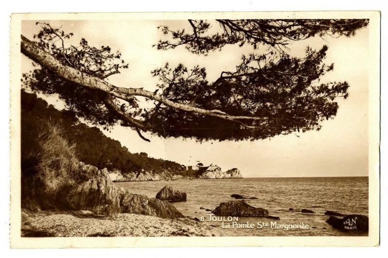 Carte postale ancienne Var Toulon La Pointe Sainte-Marguerite Carte-photo à Toulon