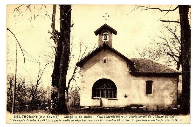 Carte postale ancienne Haute-Savoie Thorens la Chapelle de Sales à Sales