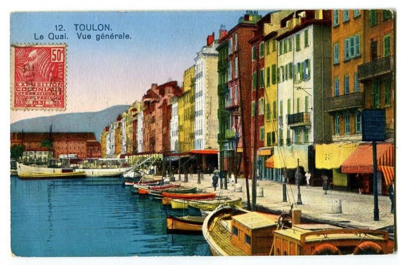 Carte postale ancienne Var Toulon Le Quai Vue générale à Toulon