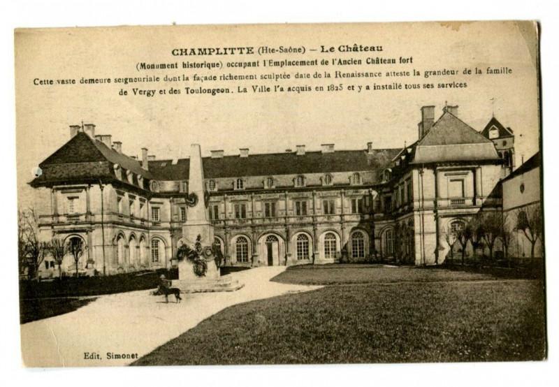 Carte postale ancienne Haute-Saône Champlitte Le Château à Champlitte