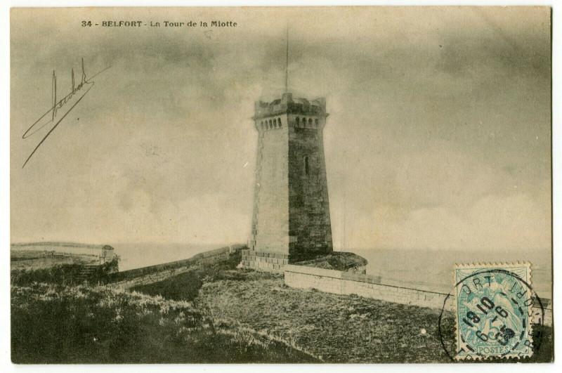 Carte postale ancienne Territoire-de-Belfort Belfort La Tour de la Miotte à Belfort