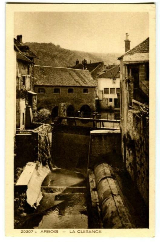 Carte postale ancienne Jura Arbois La Cuisance à Arbois