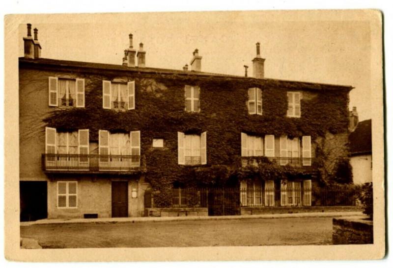 Carte postale ancienne Jura Arbois Maison Paternelle de Pasteur Façade sur la rue de Courcelle à Arbois