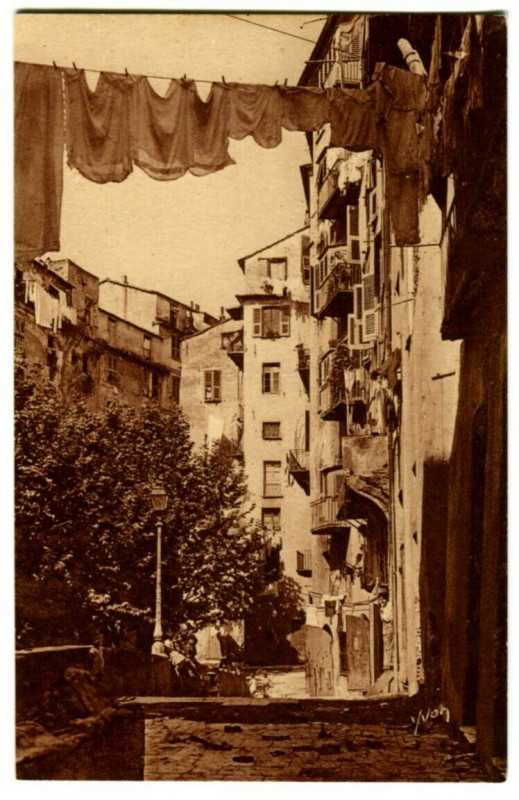 Carte postale ancienne Corse Bastia Vieille Rue à Bastia