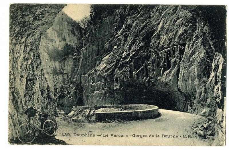 Carte postale ancienne Isère Vercors Gorges de la Bourne à