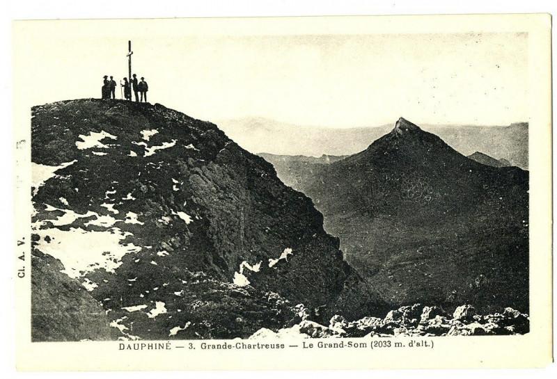 Carte postale ancienne Isère Grande Chartreuse Le Grand-Som animation à