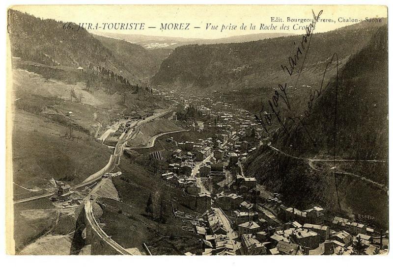 Carte postale ancienne Jura Morez Vue prise de la Roche des Crottes