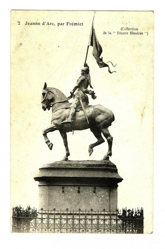 Carte postale ancienne Paris Statue de Jeanne d'Arc par Frémiet à Paris