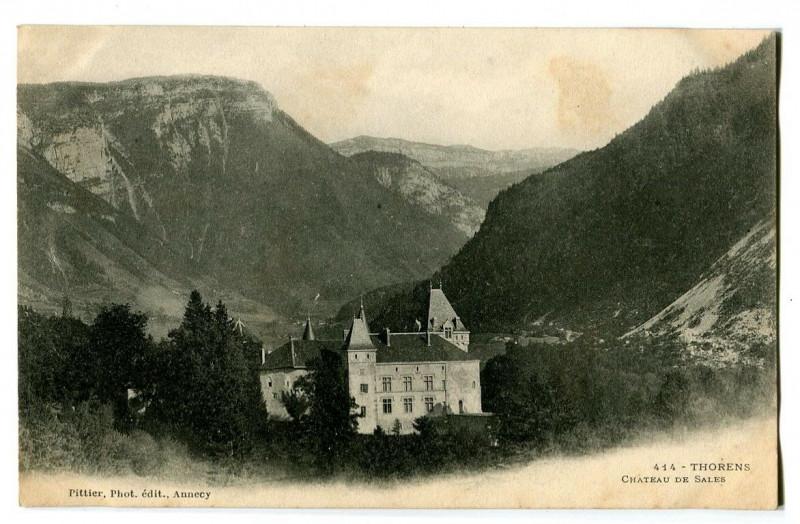 Carte postale ancienne Haute-Savoie Thorens Château de Sales à Sales