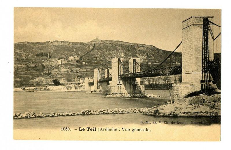 Carte postale ancienne Ardèche Le Teil Vue générale au Teil