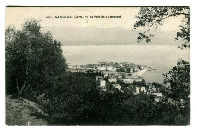 Carte postale ancienne Corse Ajaccio Vu du Petit Bois Communal à Ajaccio