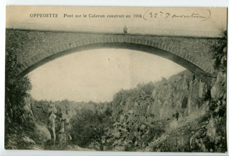 Carte postale ancienne Alpes-de-Haute-Provence Oppedette Pont sur le Calavon à Oppedette