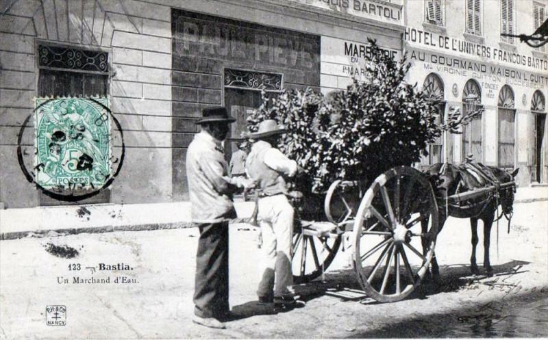 Carte postale ancienne 20 Corse Bastia Un Marchand D'Eau (VIEUX Metiers Belle Cpa à Bastia