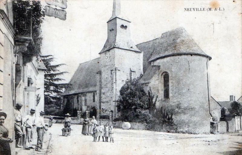 Carte postale ancienne Neuville Maine Et Loire (cpa animée) à Loiré